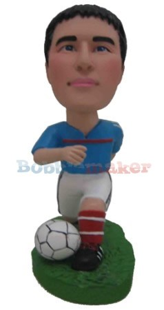 The Kneeling Soccer Player Bobblehead Doll
