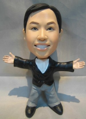 The Man With Pizzazz bobblehead Doll