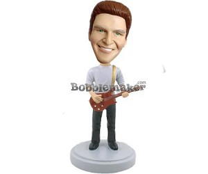 Male With Classic Guitar bobblehead Doll
