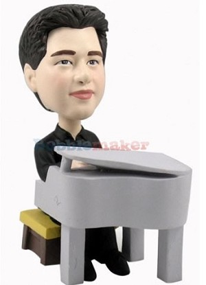 Custom Bobble Head | Tiny Pianist Bobblehead | Gift Ideas For Men