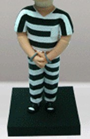 Prisoner Male bobblehead Doll