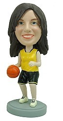 Custom Bobblehead | Basketball Player Woman Bobblehead