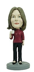 Executive Female With Coffee bobblehead Doll