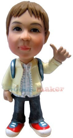 The Thumbs Up Boy bobblehead Doll