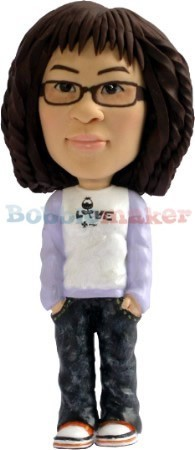 Super Casual Female bobblehead Doll