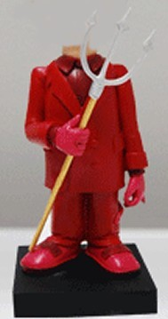 Custom Bobblehead | Red Devil Suit Man Bobblehead