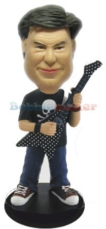 Flying-V Guitar Player bobblehead Doll