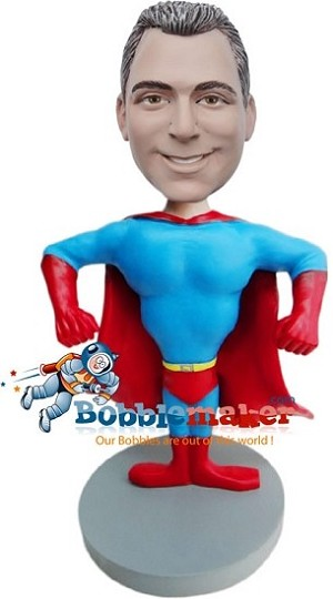 Custom Bobble Head | Male Muscle Man Super Hero Bobblehead | Gift For Men
