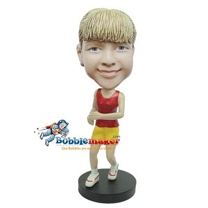 Sporty Female bobblehead Doll