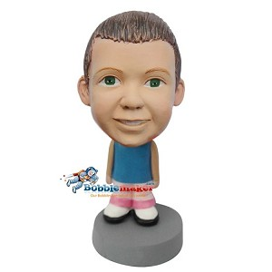 Custom Bobble Head | Pink Pants And Tank Top Kid Bobblehead | Gifts for Kids