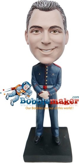 Custom Bobble Head | Military Officer Male Bobblehead | Gift Ideas For Men