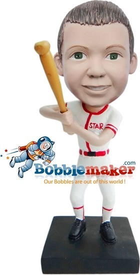 Boy With Baseball Bat bobblehead Doll