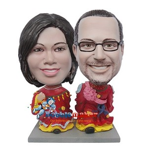 Chinese Wedding Couple bobblehead Doll