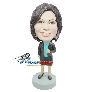 Custom Bobble Head | Casual Female With Blazer Bobblehead | Gift Ideas For Women