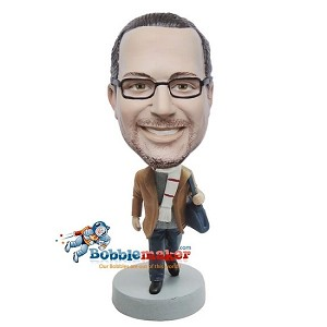 Custom Bobble Head | Casual Male In Scarf Bobblehead | Gift For Men