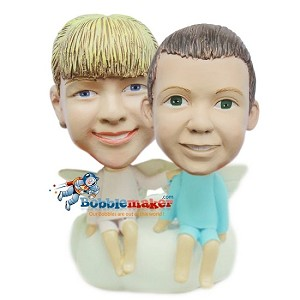 Custom Bobble Head | Boy And Girl Angels Bobblehead | Gifts for Couples