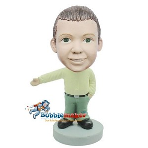 Custom Bobble Head | Casual Boy With Hand Out Bobblehead | Gift For Men