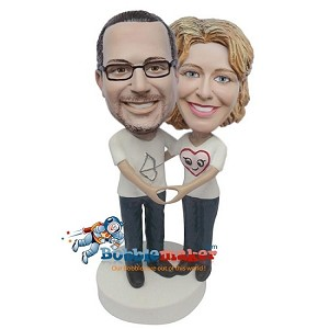 Custom Bobble Head | Loving Man And Woman Bobblehead | Gifts for Couples