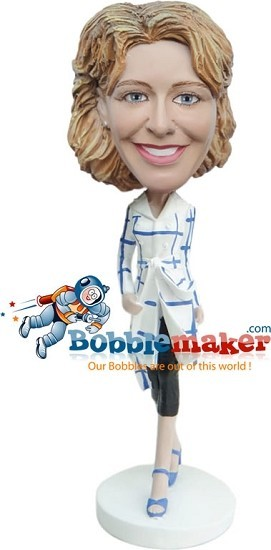 Runway Jacket Female Custom bobblehead Doll