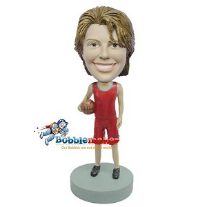 Custom Bobble Head | Basketball Playing Woman Bobblehead | Gift Ideas For Women