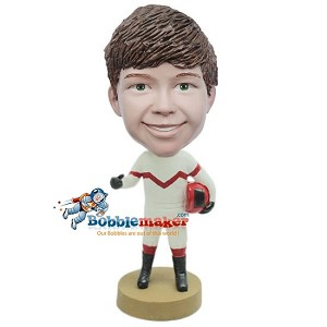 Custom Bobble Head | Boy Race Car Driver Bobblehead | Gift Ideas For Men