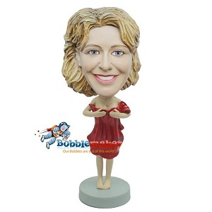 Custom Bobble Head | Woman With Red Towel Bobblehead | Gift Ideas For Women
