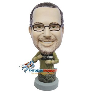 Mug Shot Man bobblehead Doll