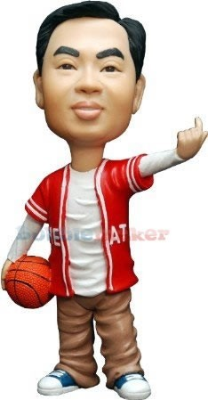 "The ""Come At Me"" Basketball Custom Bobblehead Doll"