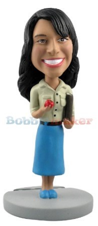 Female School Teacher bobblehead Doll