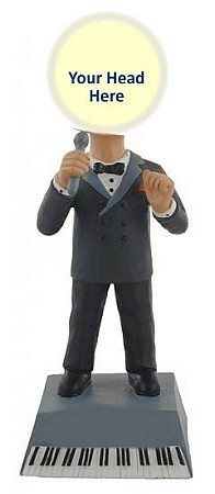 Custom Bobble Head | Male Singer On Piano Bobblehead | Gift Ideas For Men