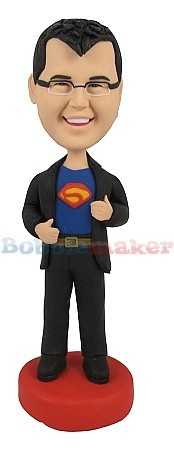 Custom Bobble Head | Casual Clark Kent Bobblehead | Gift Ideas For Men
