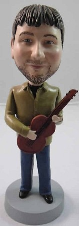 Male With Acoustic Guitar bobblehead Doll