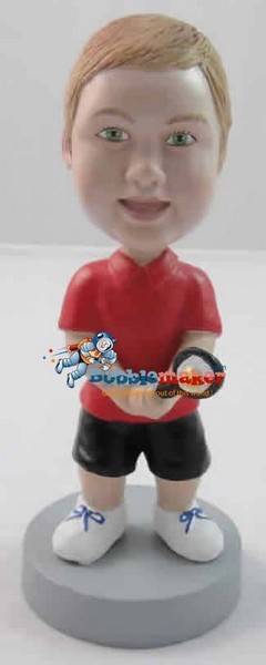 Kid Tennis Player bobblehead Doll