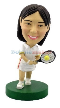 Tennis Player Female bobblehead Doll