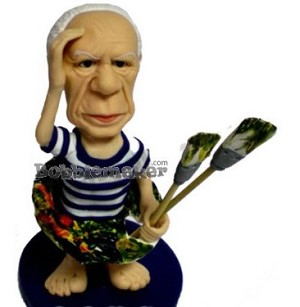 Artist With Brushes bobblehead Doll