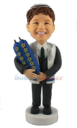 Custom Bobblehead | Bar Mitzvah Boy Bobblehead