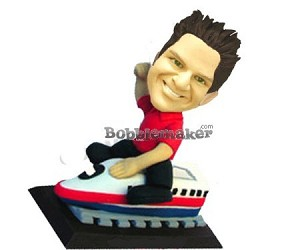 Custom Bobble Head | Man Riding Train Bobblehead | Gift Ideas For Men