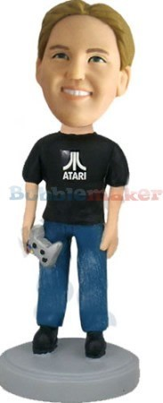 Video Game Player bobblehead Doll