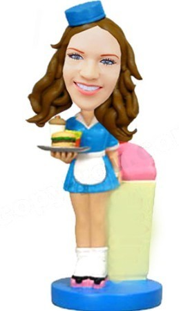 Custom Bobble Head | Waitress Bobblehead | Gift Ideas For Women