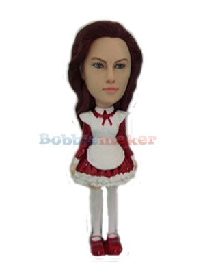 Short Victorian Dress Female bobblehead Doll
