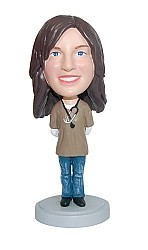 Female Hospital Doctor With Stethoscope bobblehead Doll