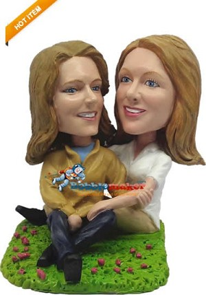 Custom Bobble Head | Same Sex Female Couple Bobblehead | Gifts for Couples