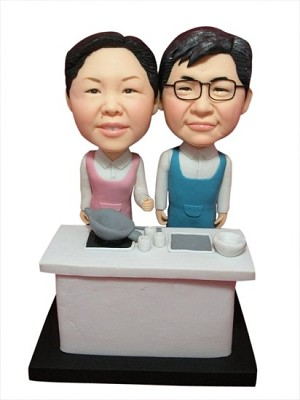 Custom Bobble Head | Cooking Couple Bobblehead | Gift Ideas For Couples