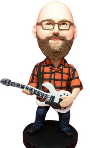 Custom Bobble Head | Hipster Rocker Bobblehead | Gift Ideas For Men