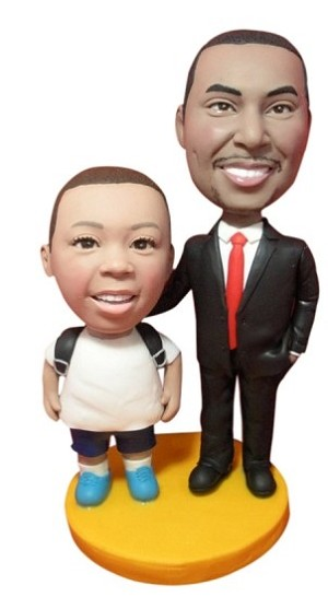 Custom Bobble Head | Businessman And Son Bobblehead | Gift Ideas For Kids