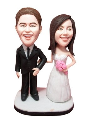 Take My Arm Bride And Groom bobblehead Doll