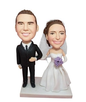 Custom Bobble Head | Wedding Bride And Groom Bobblehead | Gift Ideas For Wedding