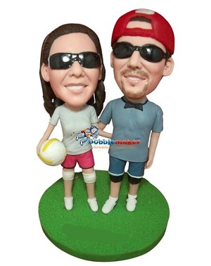 Volleyball Couple bobblehead Doll