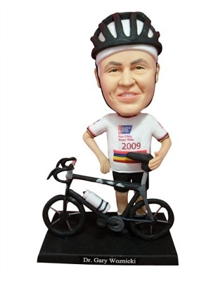 Male Bicycle Rider Poses bobblehead Doll