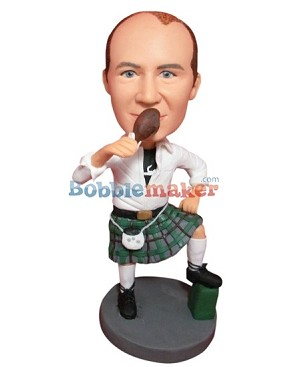 Scottish Dress Man bobblehead Doll